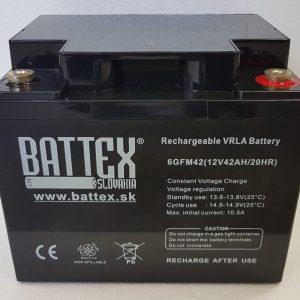 BATTEX 6GFM42   Olovené akumulátory BATTEX