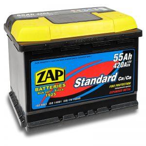 ZAP 12V/55Ah | Autobatérie